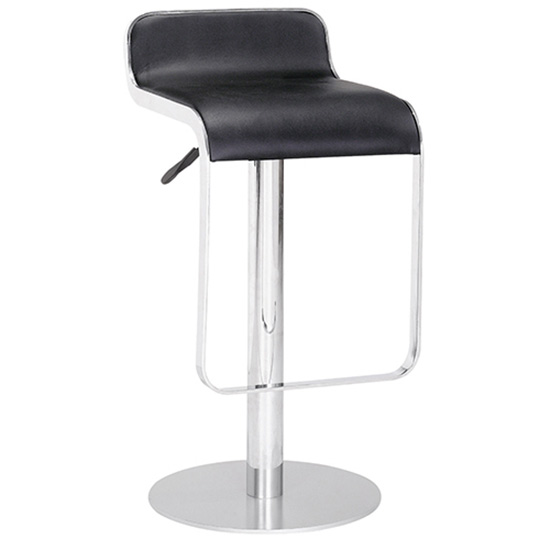 Equino Chrome Stool - Black