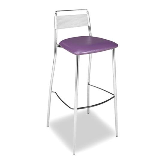 Silk Back Bar Stool - Purple